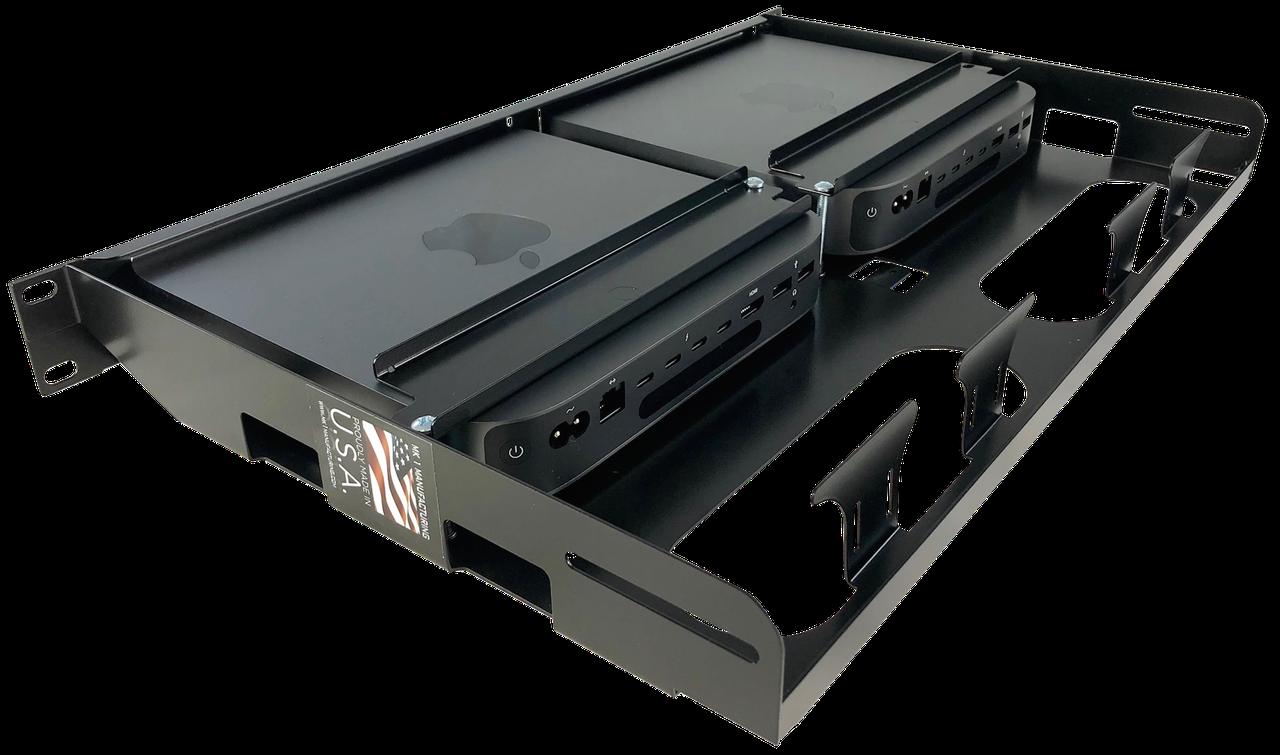 Rear View Fixed Dual Mac Mini Server Rackmount