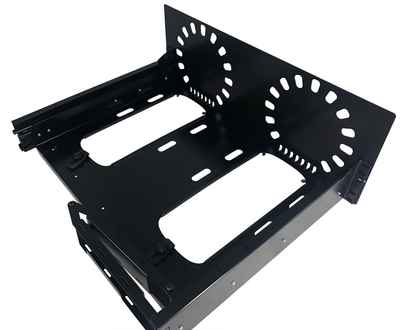 Rear View Mounted Baffle Plate on face of MPR-2X