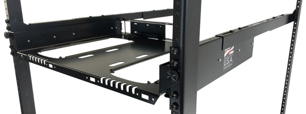 Dual Sliding Rackmount for Apple Mac Pro with Rear Brace